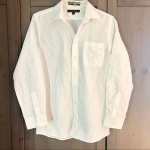 Nordstrom Boys White Long Sleeve Button Down Shirt